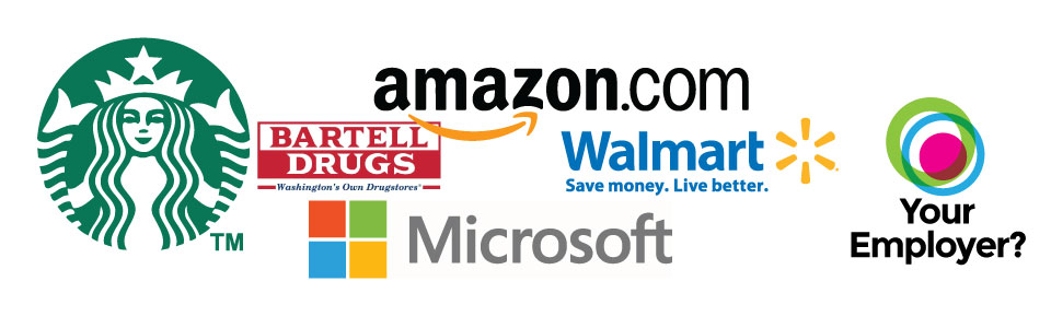 Starbucks, Amazon, Microsoft, Walmart, Bartells, and Your Company?